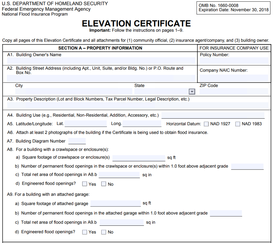 How to Read an Elevation Certificate | Gulfshore Insurance