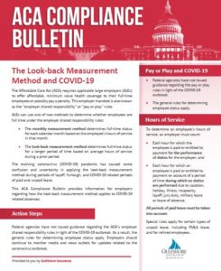 What You Need to Know About the Look-back Measurement Method and COVID-19
