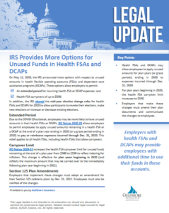 IRS Provides More options for Unused Funds