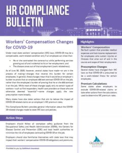 Work Comp Changes for COVID 19