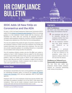 HR Compliance Bulletin Gulfshore Insurance Employee Benefits Naples Florida EEOC Adds 18 FAQs on COVID